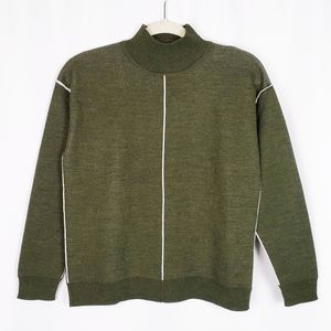 SANDRO PARIS wool blend sweater with trim